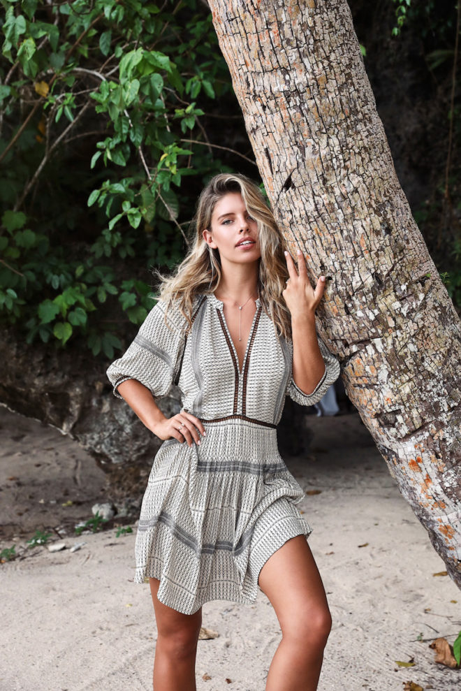 fd28340ee4 A simple silk dress easily goes from cover-up to lunch cocktails via  Natasha Oakley