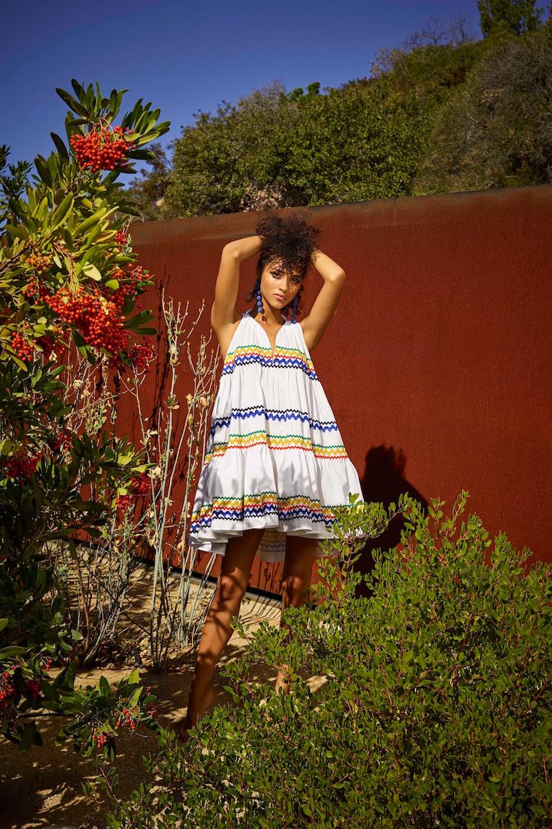 Model in a summer dress