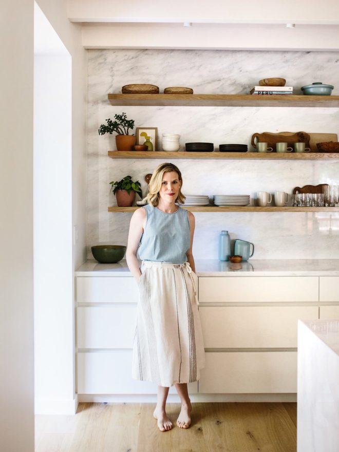Sneak A Peek Lauren S Warm Modern Kitchen The