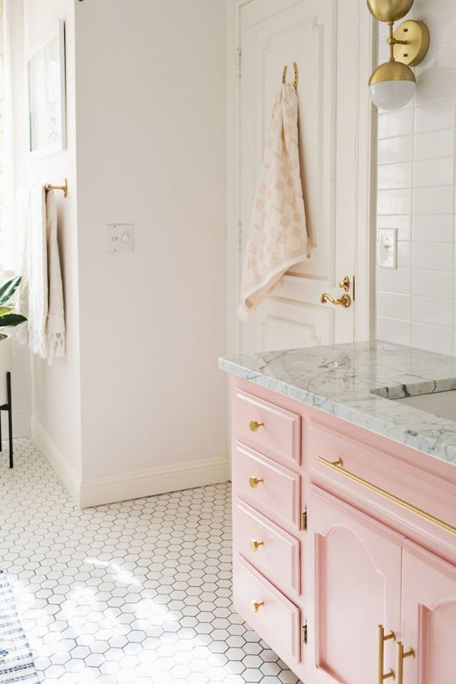 our austin casa parker\u0027s pink bathroom design the effortless chici\u0027ve been dreaming about a pink bathroom since before i knew this baby was going to be a girl as if i didn\u0027t already have enough reasons for wanting