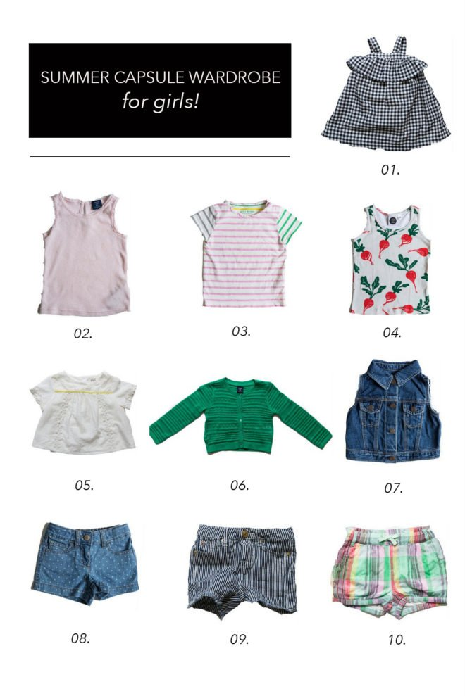 Summer Capsule Wardrobe Toddler Girls The Effortless Chic