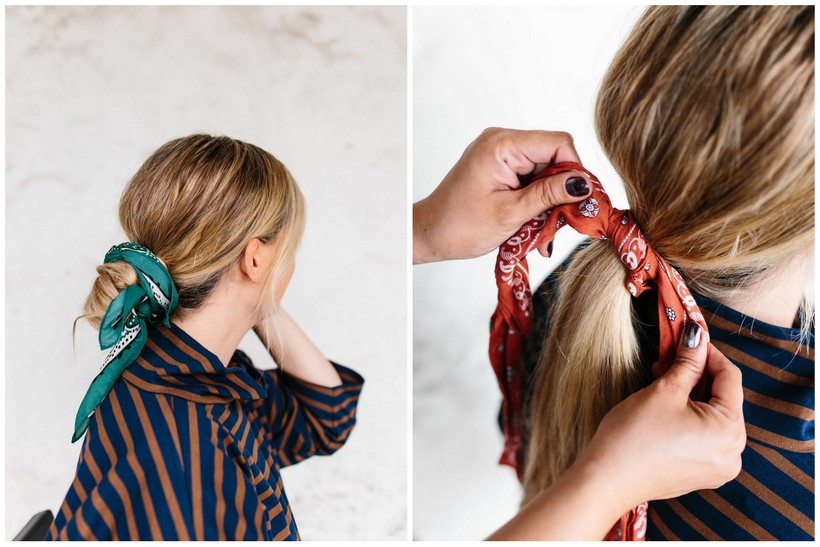 Hair Tutorial The Hair Scarf Two Ways The Effortless Chic