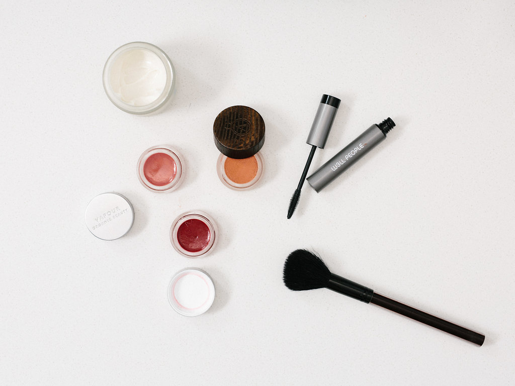 Clean Beauty Products on a white surface