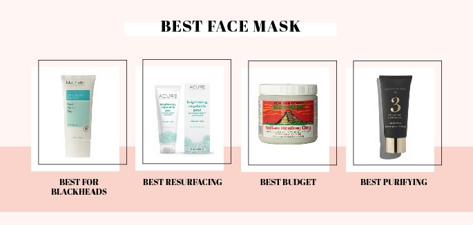 Clean beauty face masks