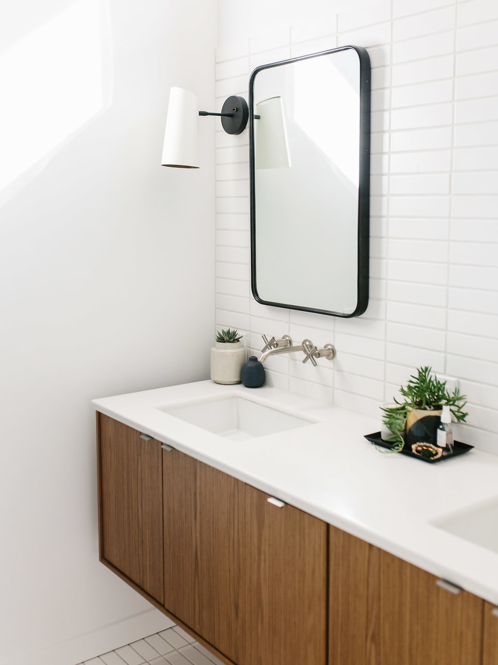 Our Austin Casa Mid Century Modern Master Bathroom