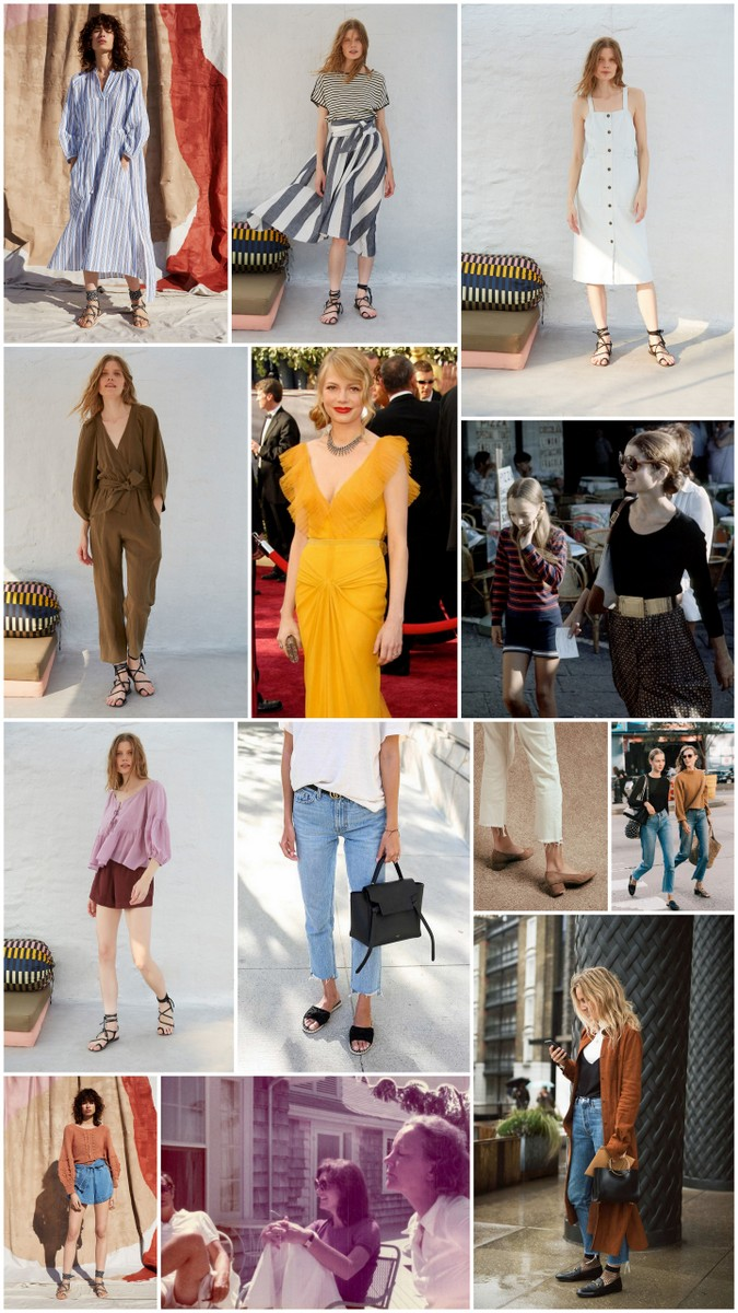 An collage of style images for a wardrobe overhaul