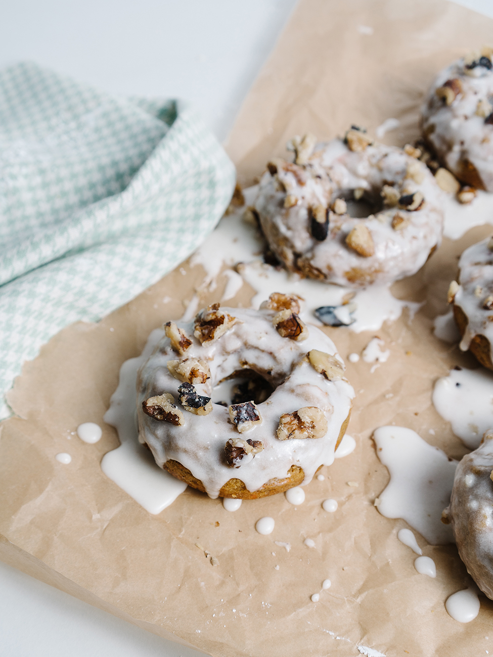 cake donut on parchment