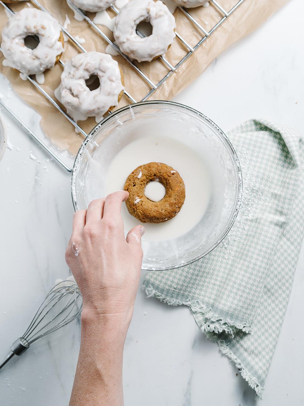 cake donut in glaze