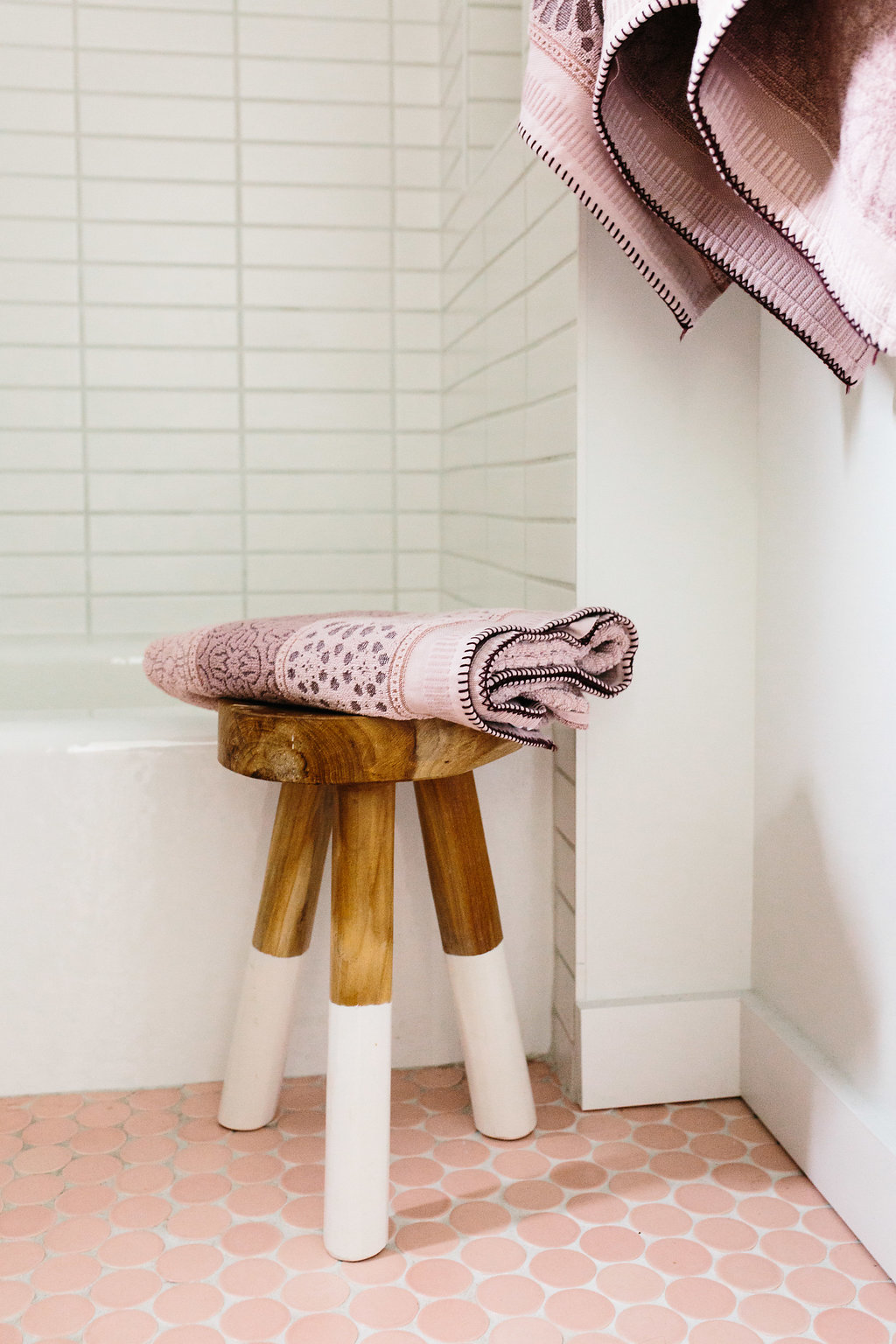 Our Austin Casa Parker And Ever S Pink Bathroom Reveal