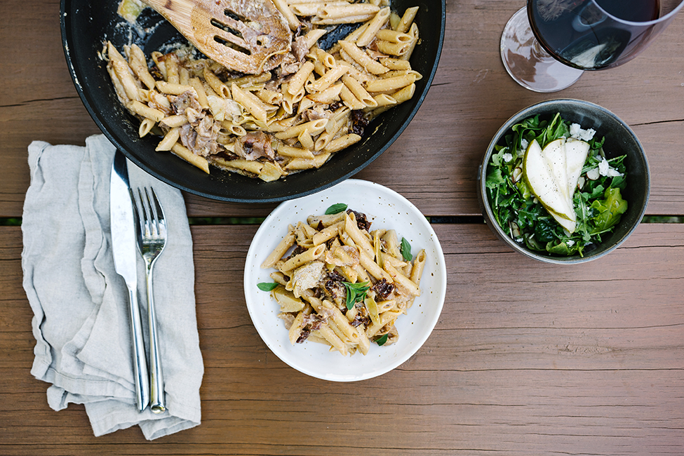 top down shot of gluten free pasta recipe