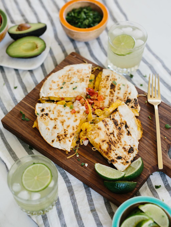 quesadillas recipe on plank