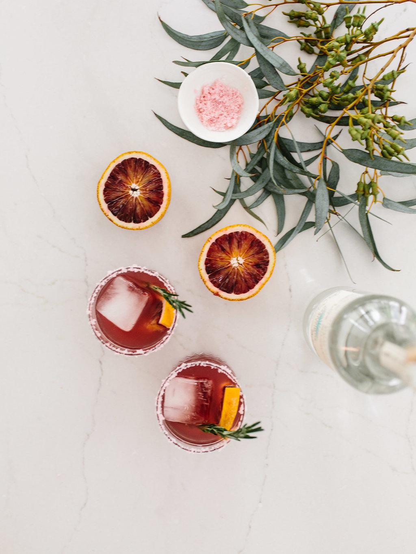 overhead shot of cocktails