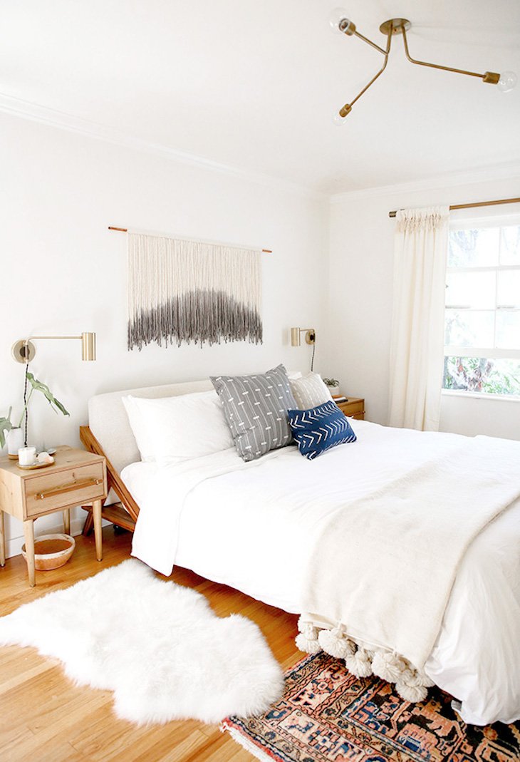 Diy The Beaded Wall Art Tutorial From Our Bedroom Other Diy Art Ideas The Effortless Chic