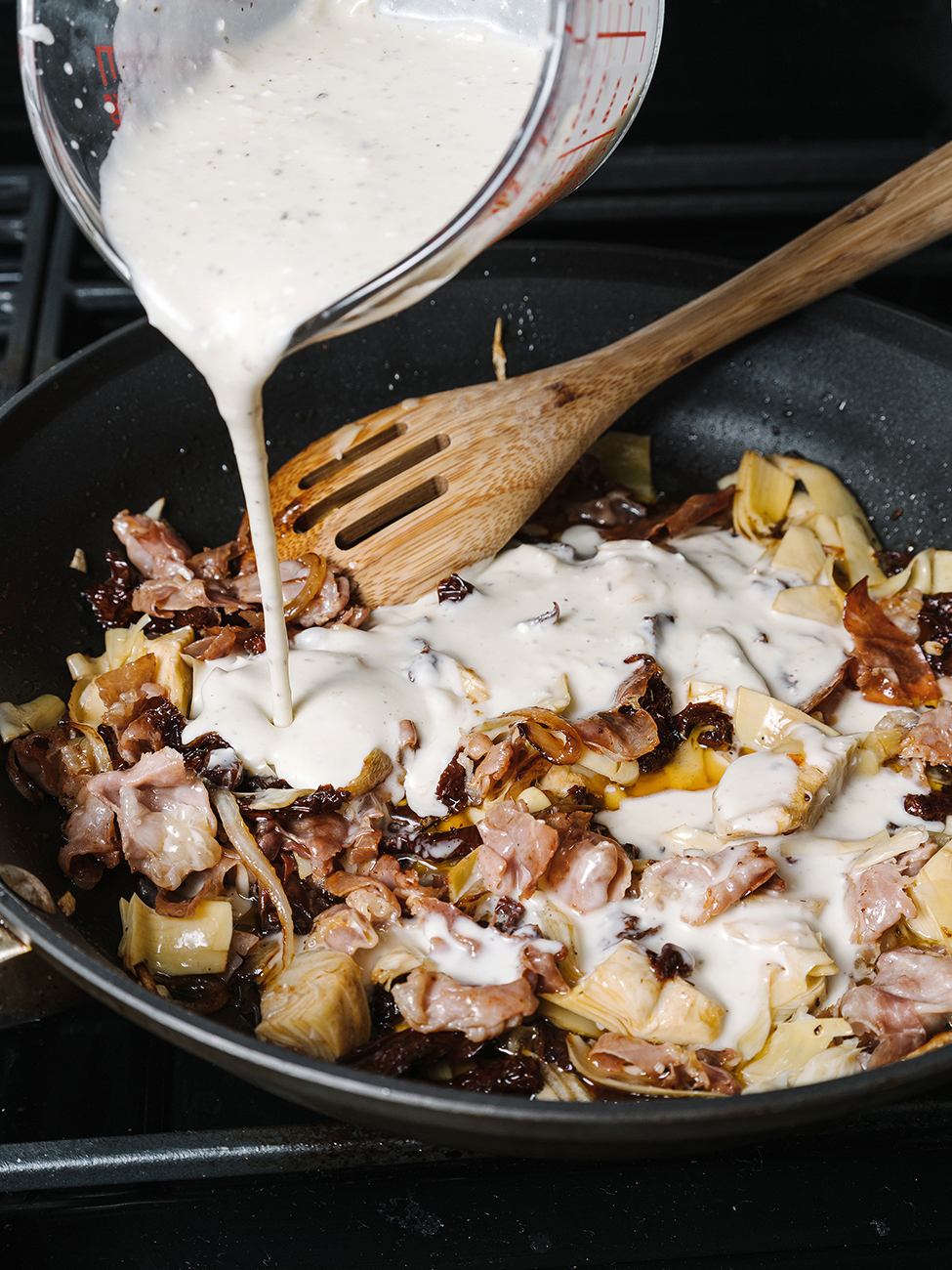 gluten free pasta recipe in pan