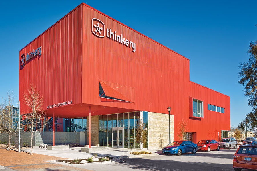 Exterior shot of the Thinkery in Austin