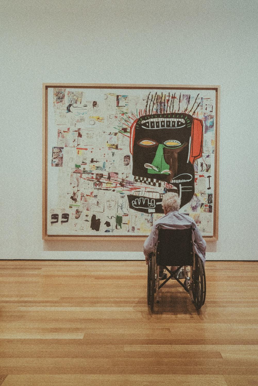 Interior of an art gallery