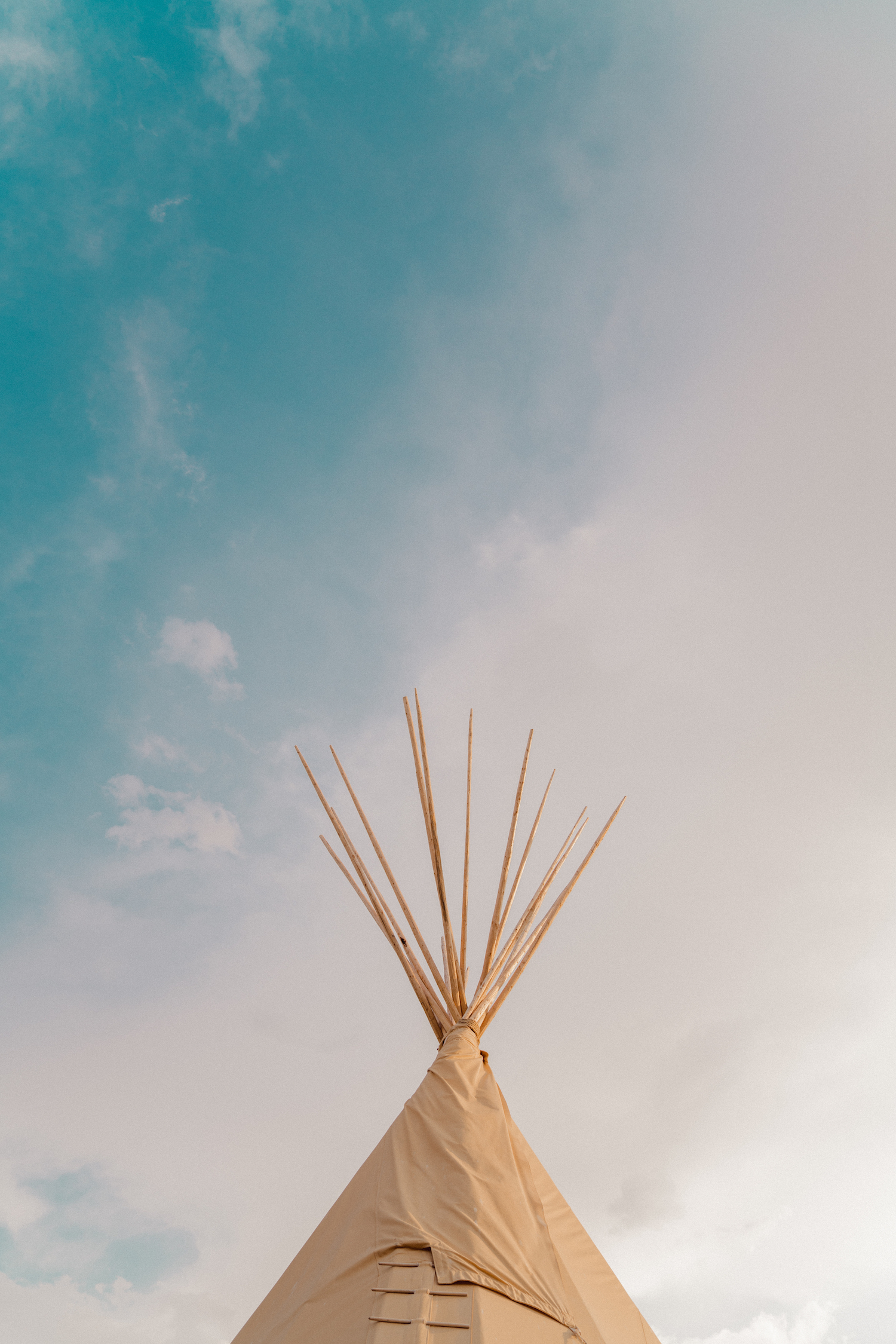 The top of a teepee