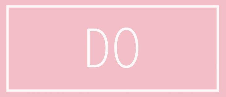 Graphic saying 'do'