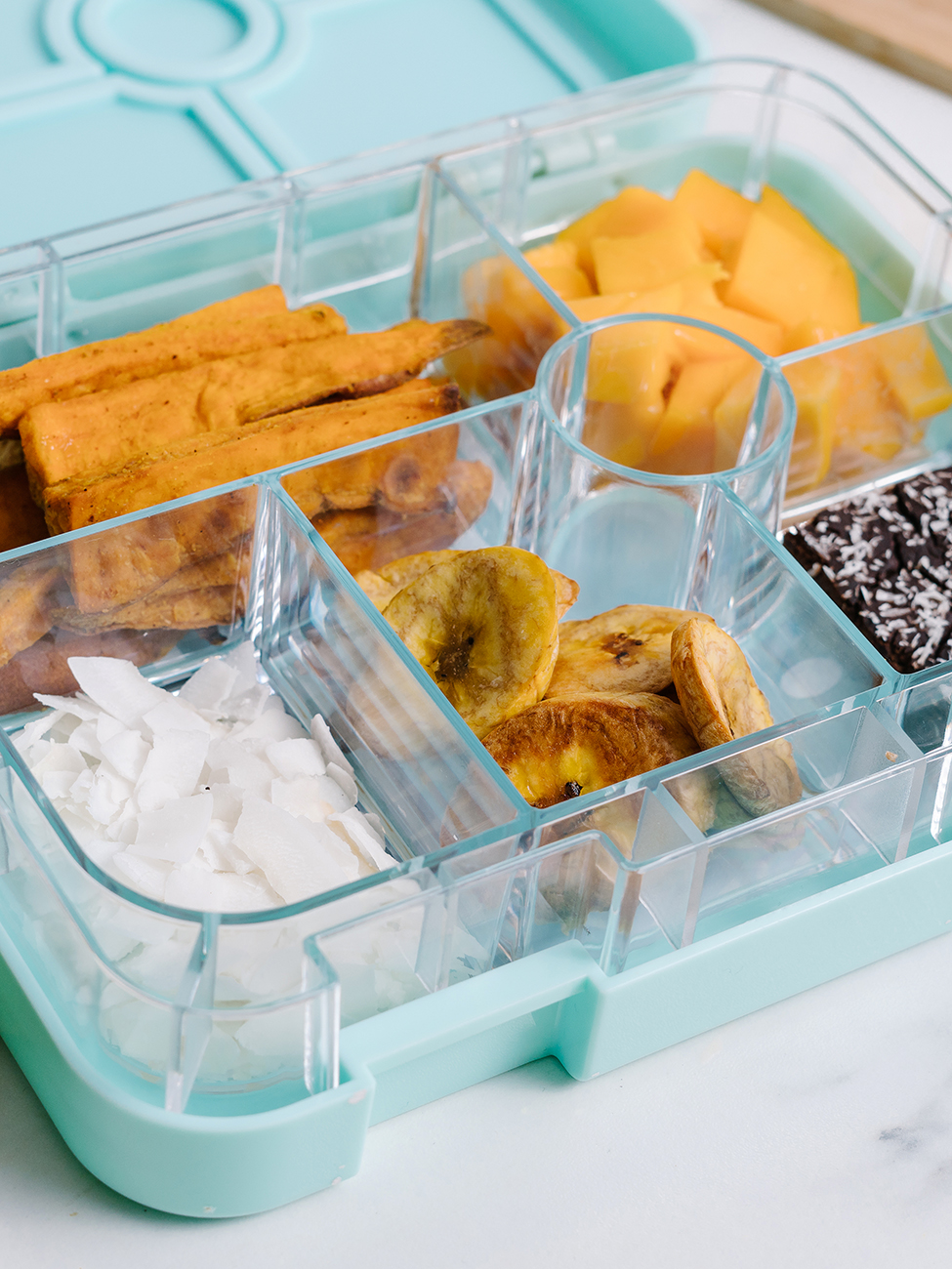 packed lunch idea - Caribbean lunchbox