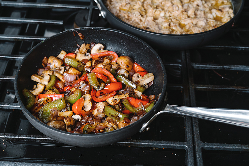 pan with vegetables