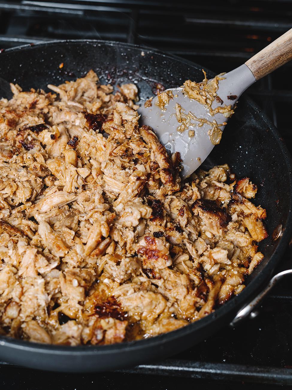 pan cooking pulled pork