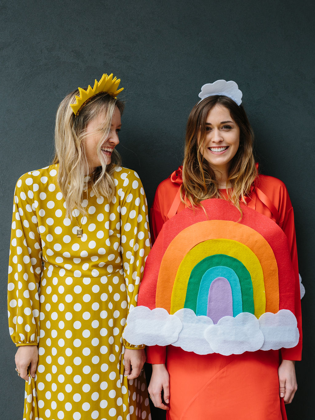 The Easiest DIY Halloween Costume for Friends A Rainbow and
