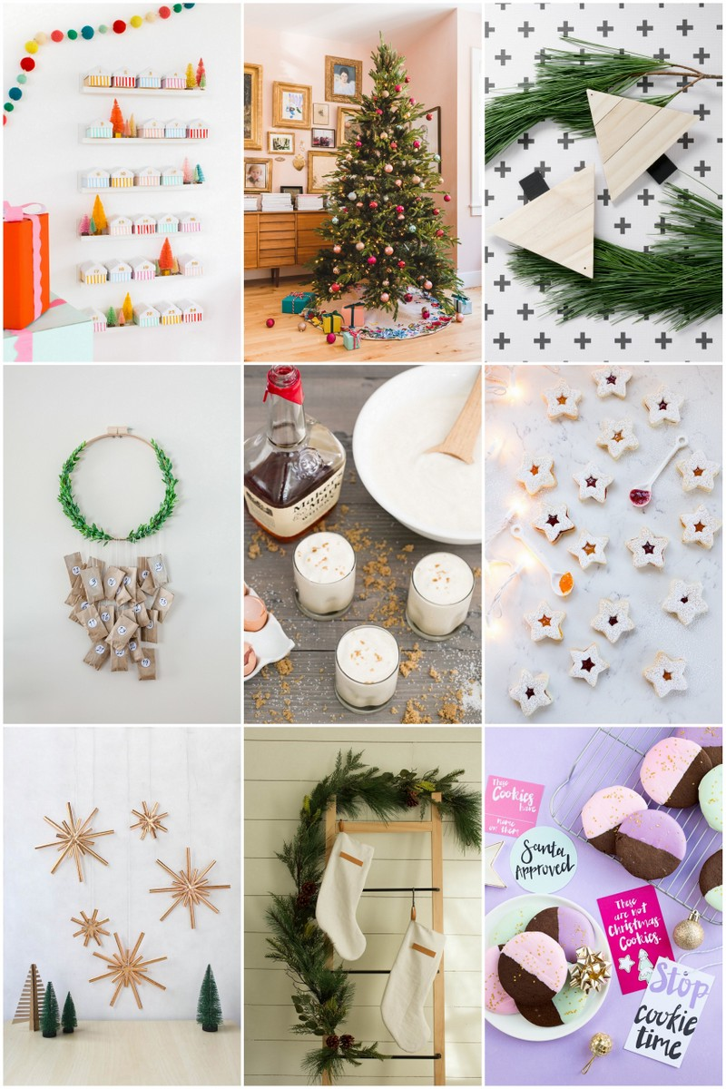 collage of holiday projects