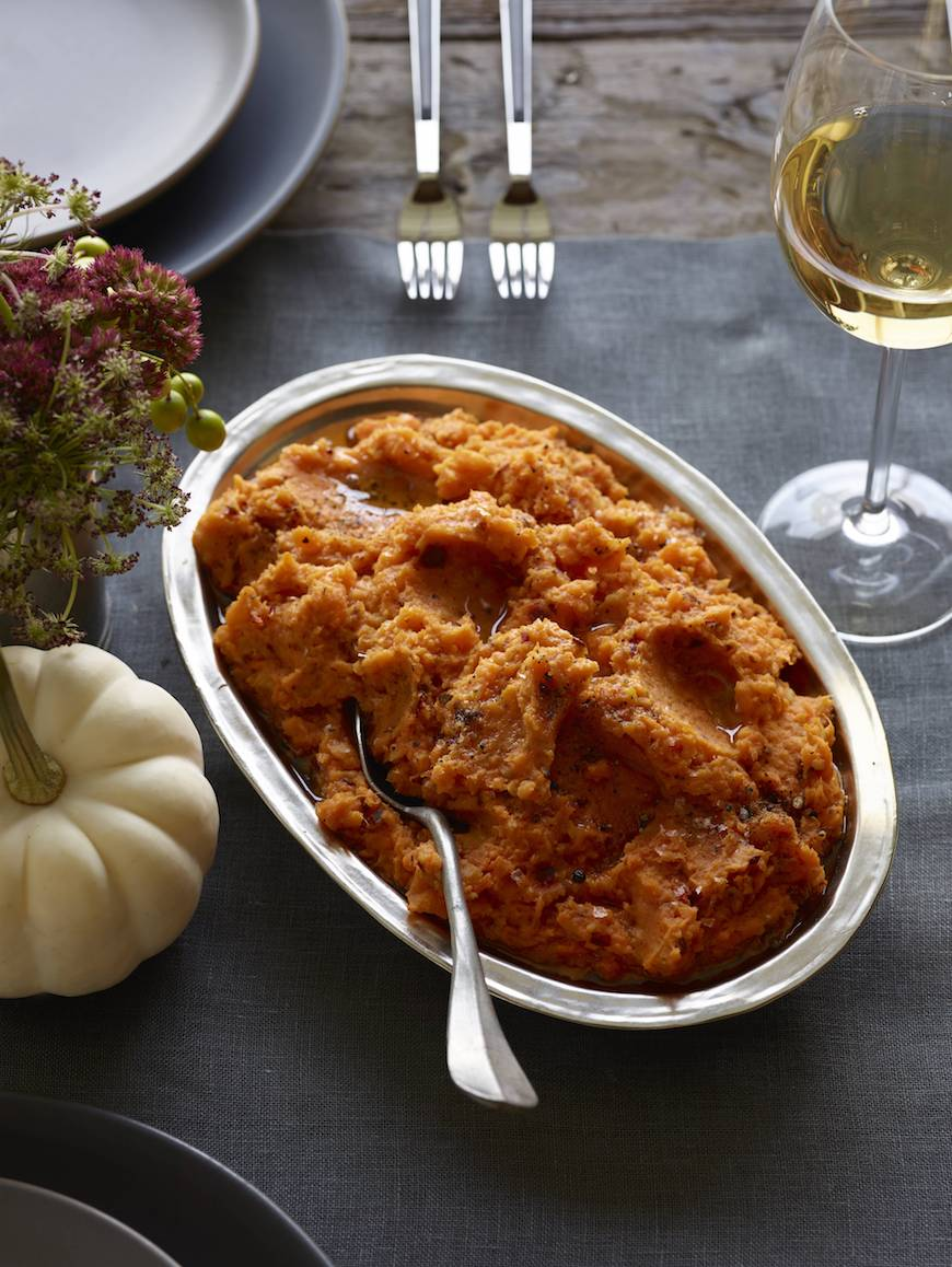 sweet mashed potatoes served as a thanksgiving side