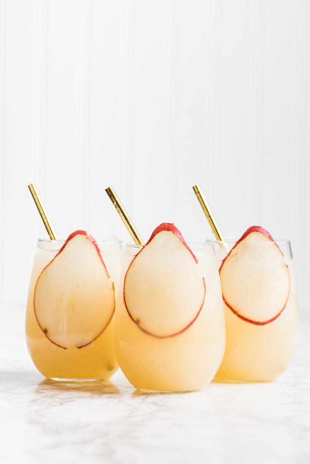 New Year's Eve Cocktails - Fizzy Spiked Pear Punch