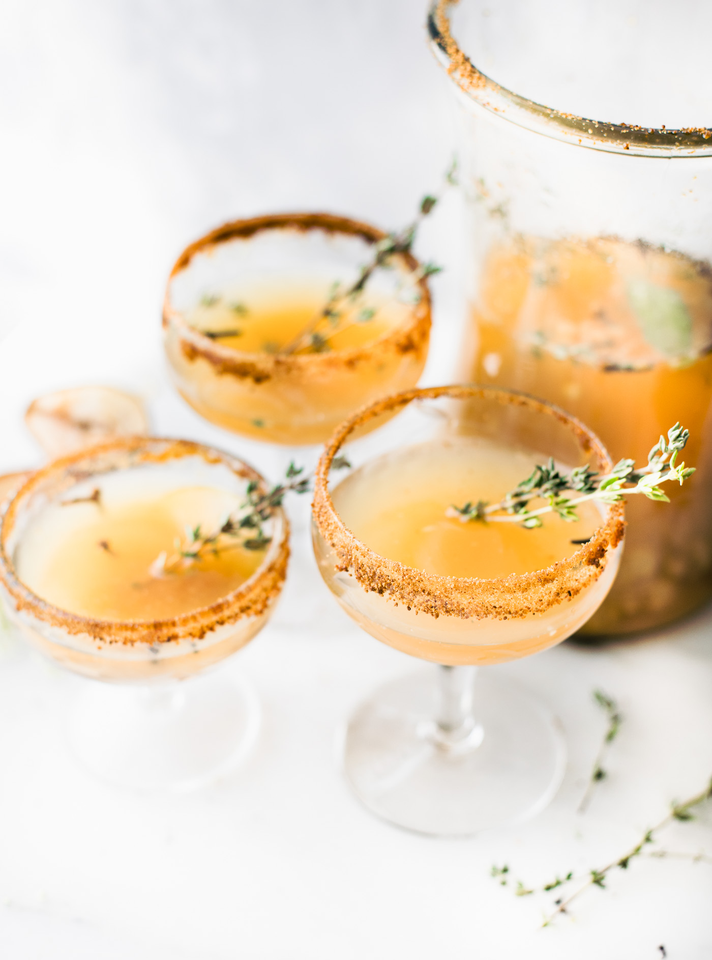 New Year's Eve Cocktails - Honey Roasted Sparkling Pear Cocktails
