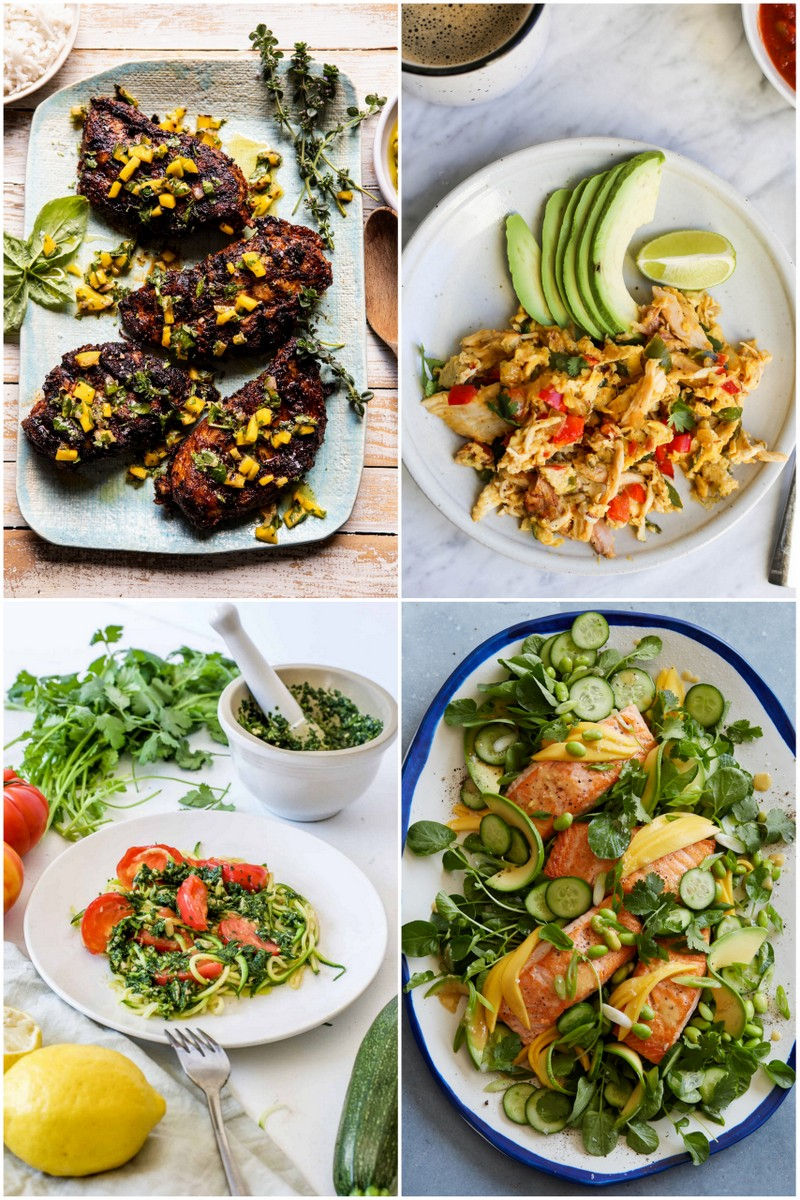 Collage of meals to eat on the detox meal plan