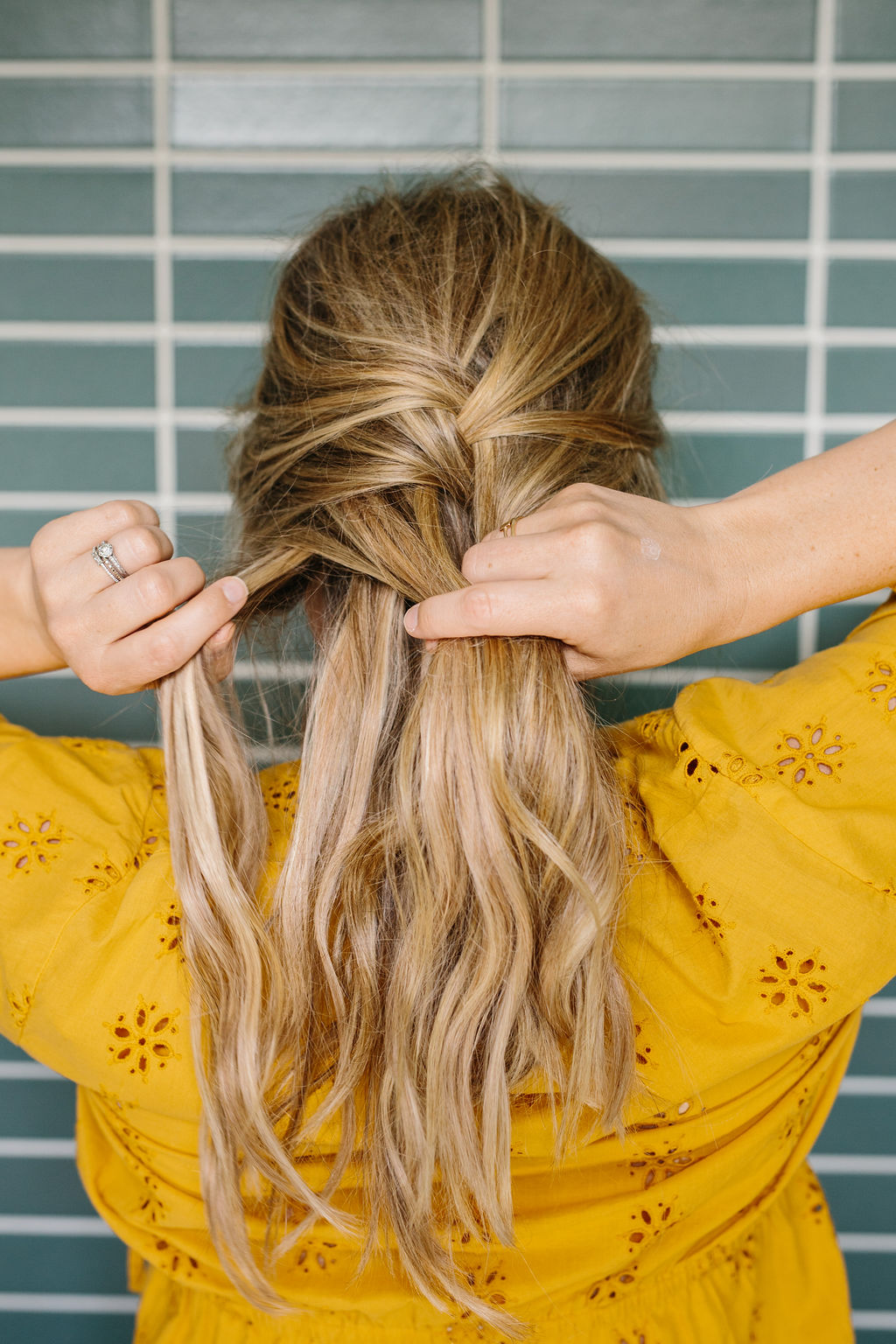 French braiding the middle of the hair