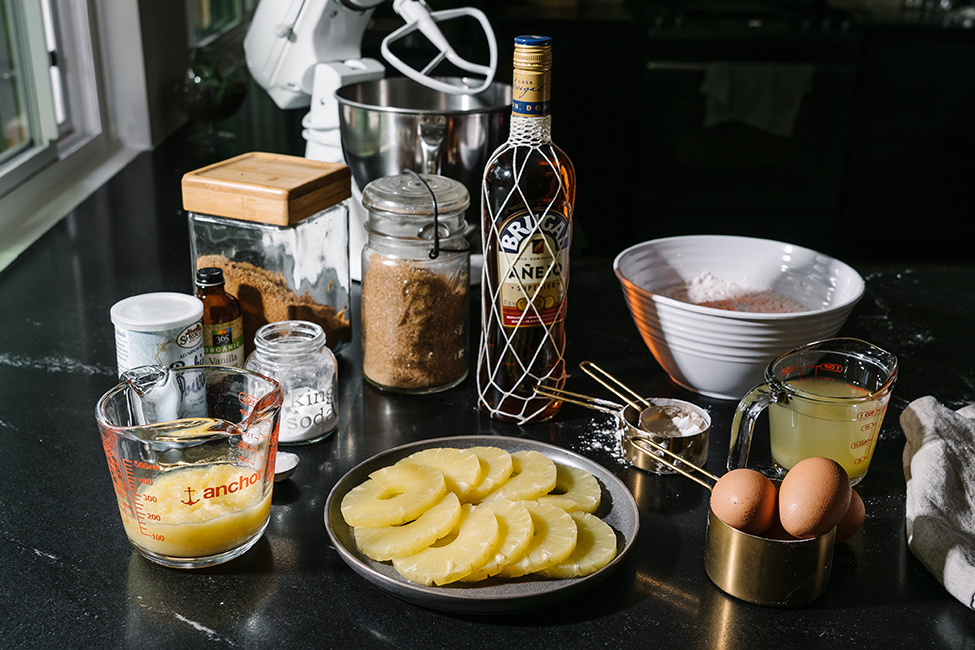 Ingredients to make Gluten Free Pineapple Upside Down Cake