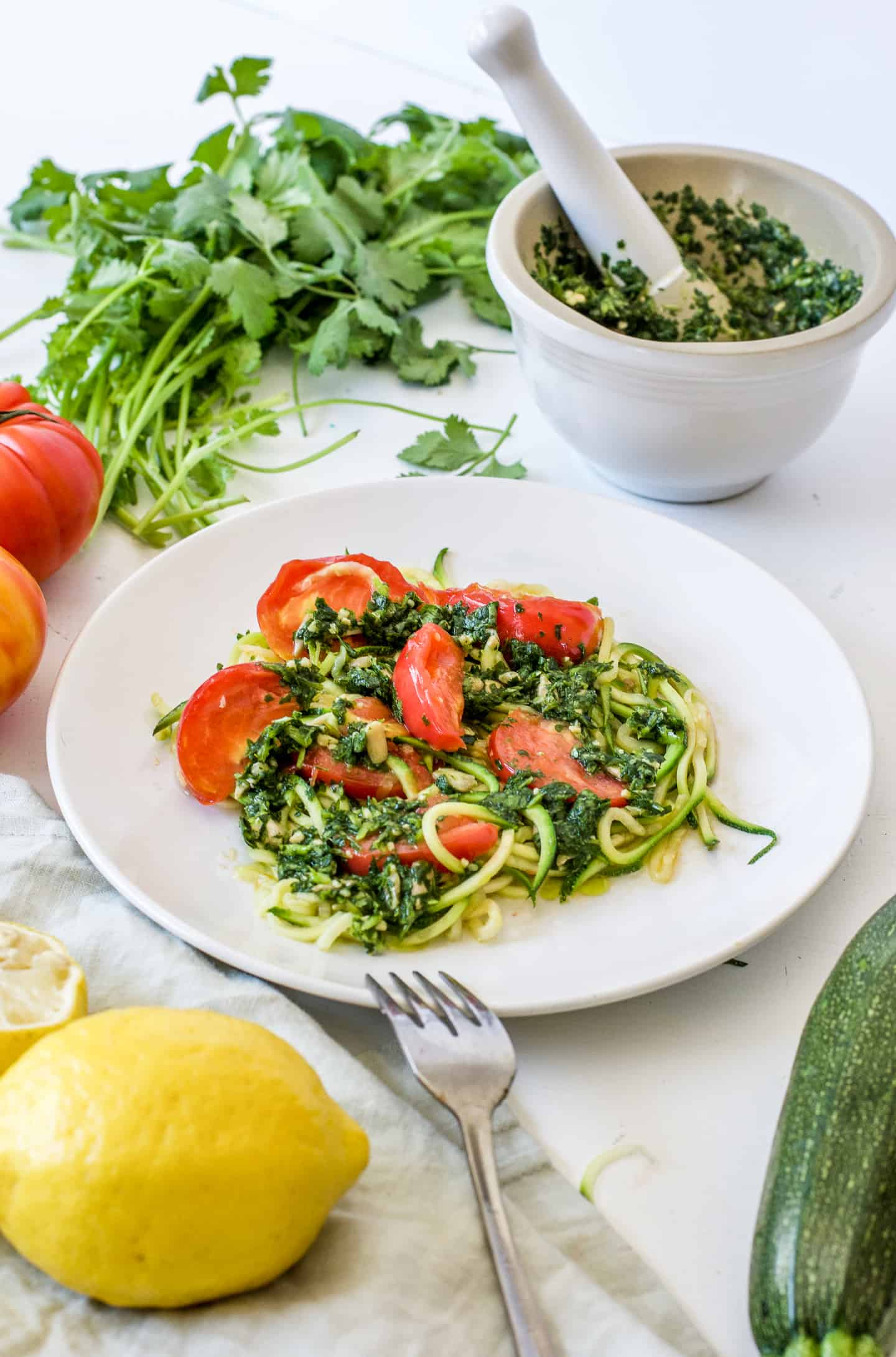 detox meal plan recipe: zucchini and pesto
