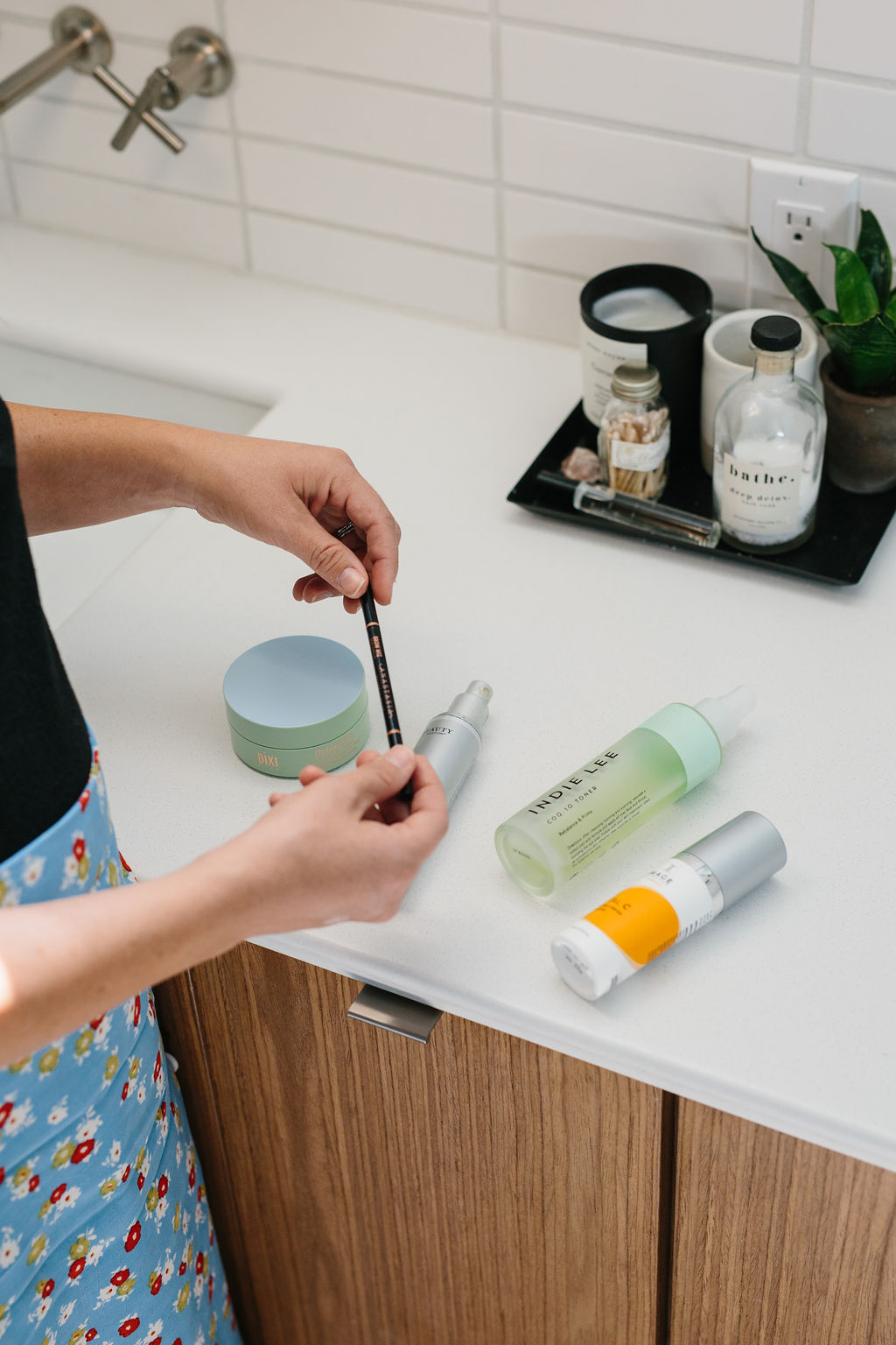 Clean Beauty Products on a counter
