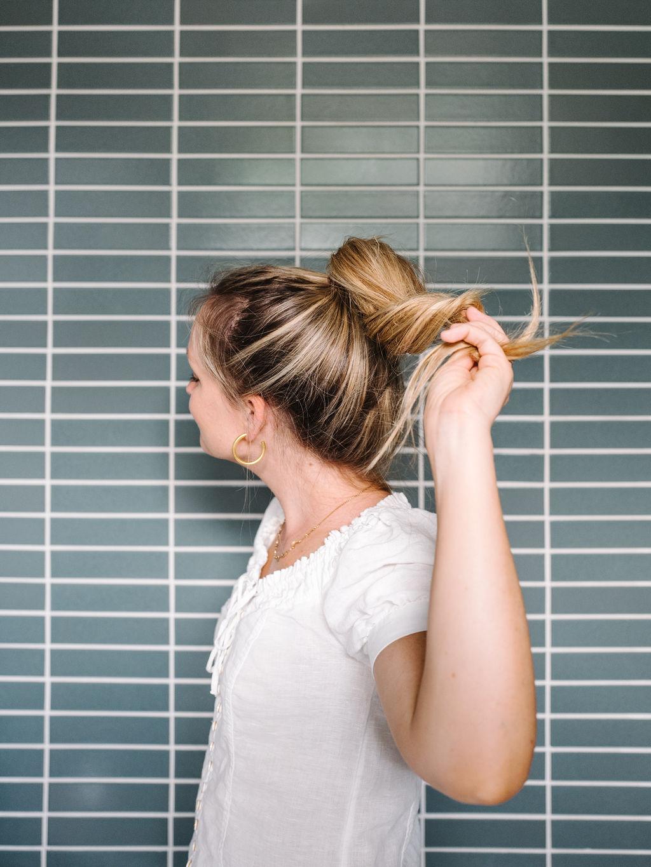 twisting hair