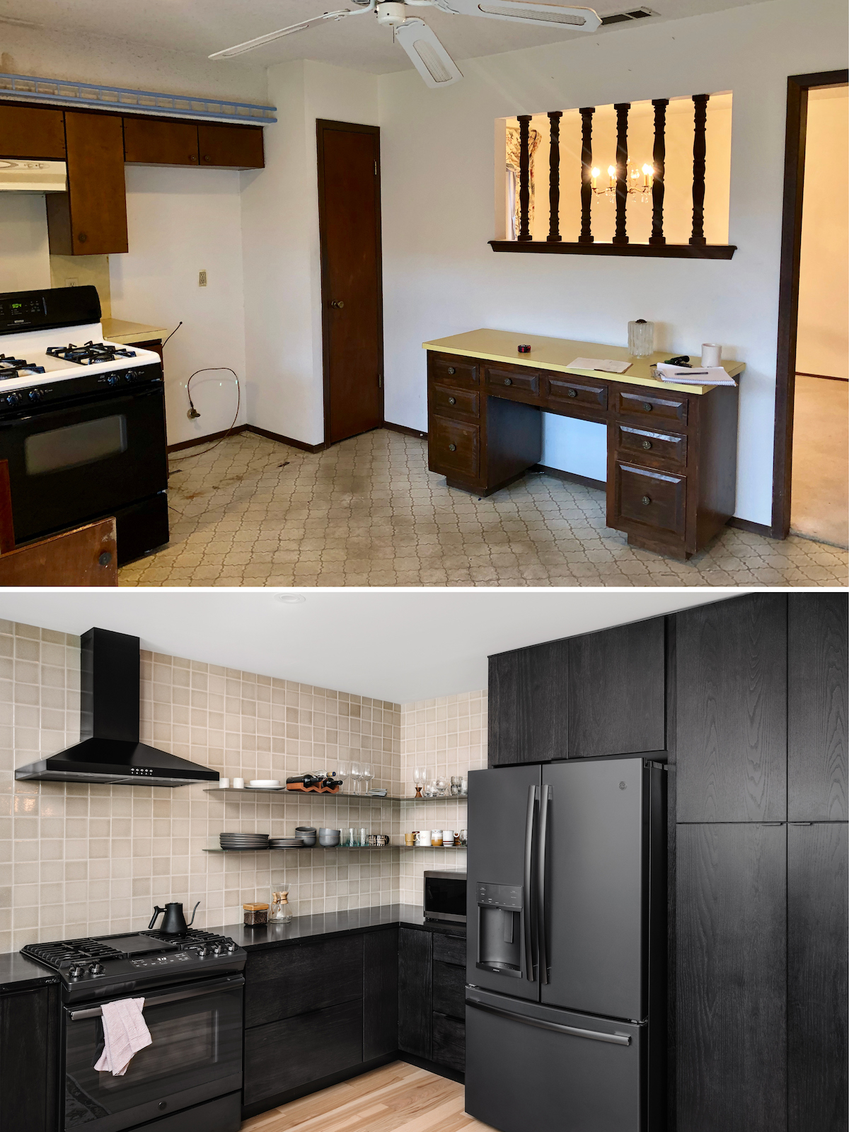 1970s Kitchen Remodel Before and Afters - The Effortless Chic