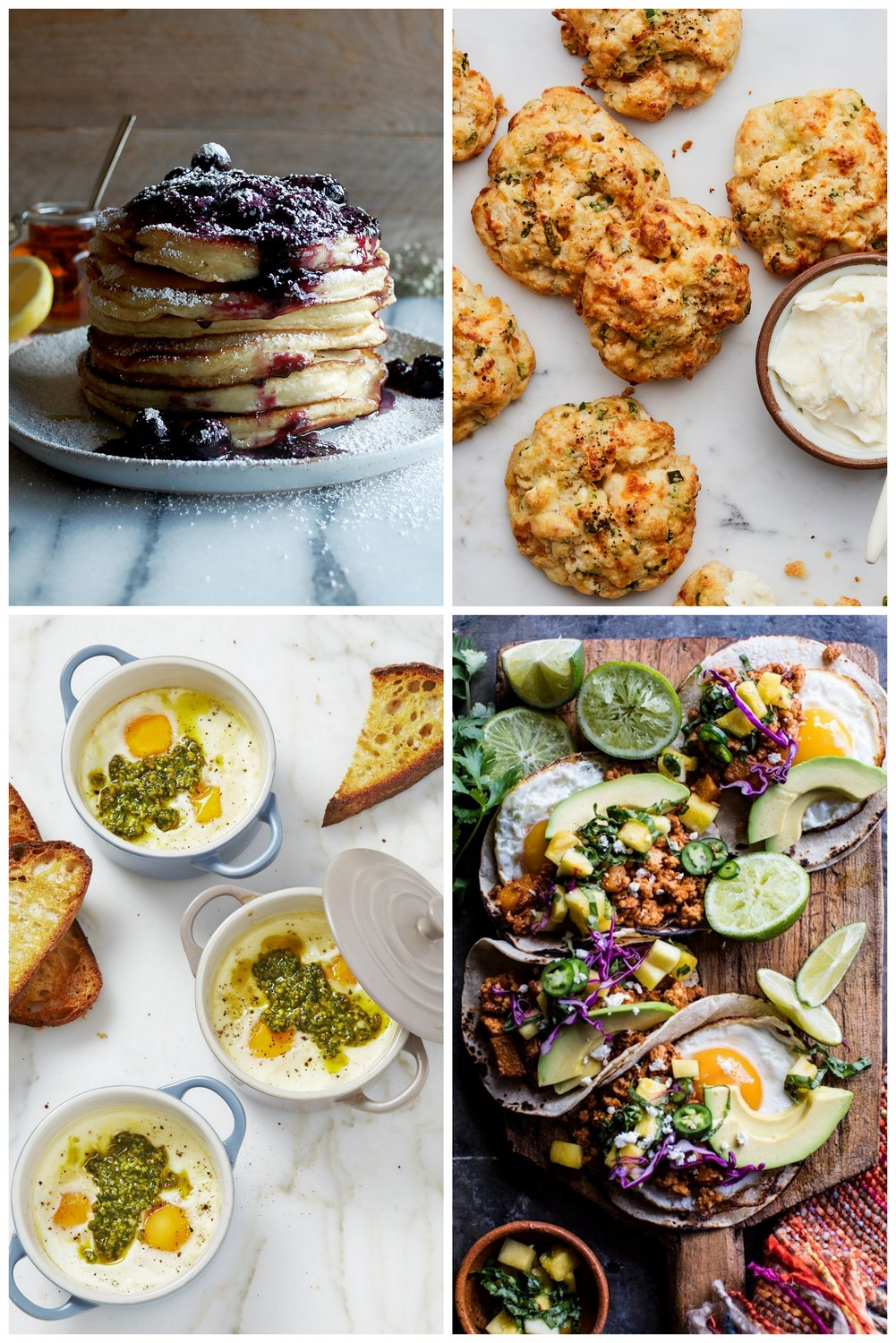collage pf weekend breakfast recipes