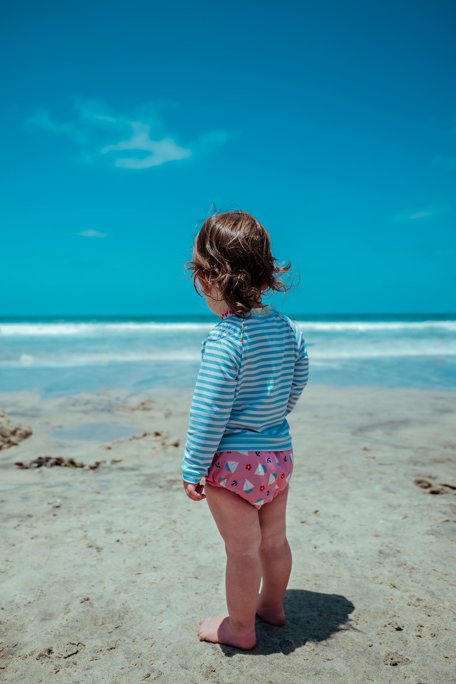 A little girl on the beach