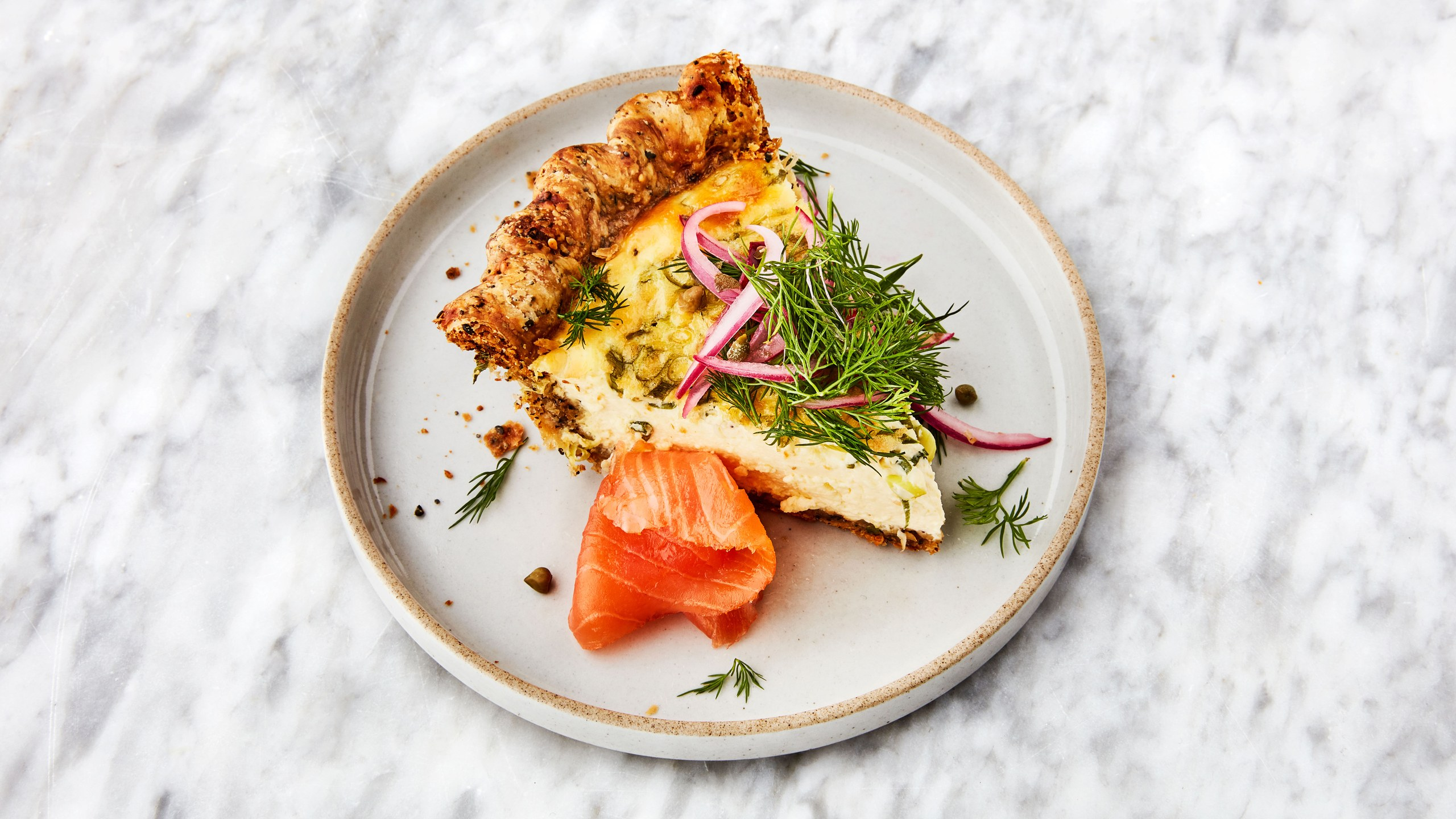everything bagel quiche breakfast recipe
