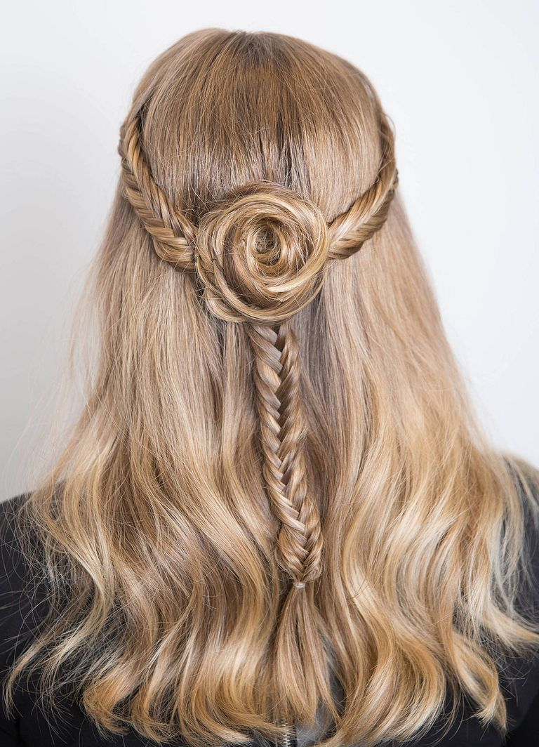 fishtail flower braid