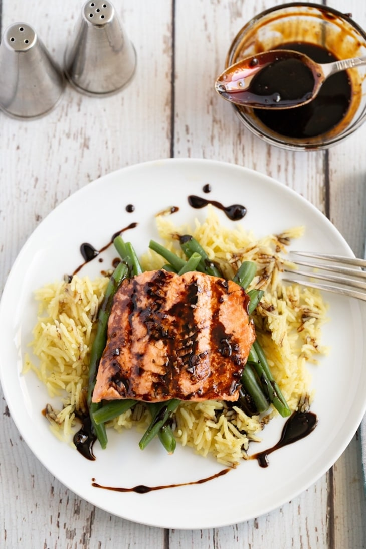 Salmon served for a weeknight meal