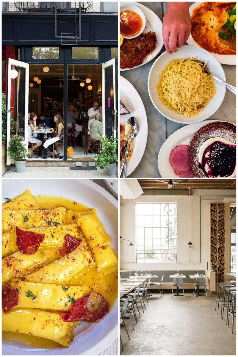collage of best restaurants in New York