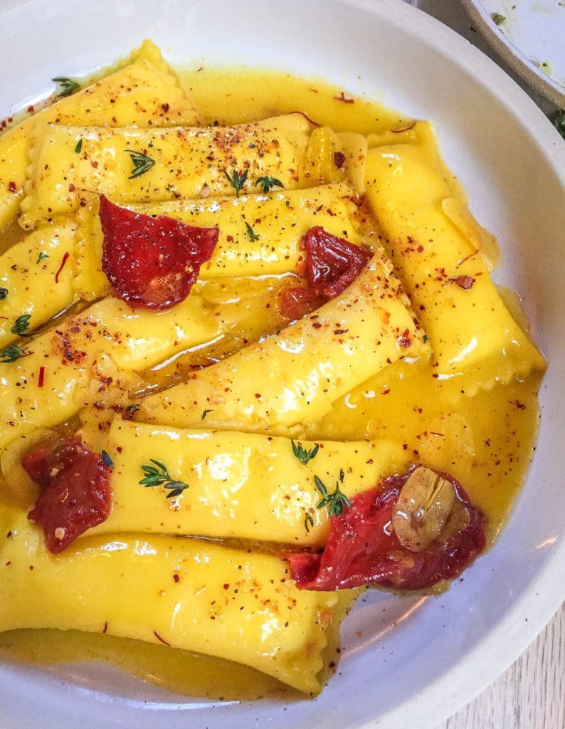 pasta on plate