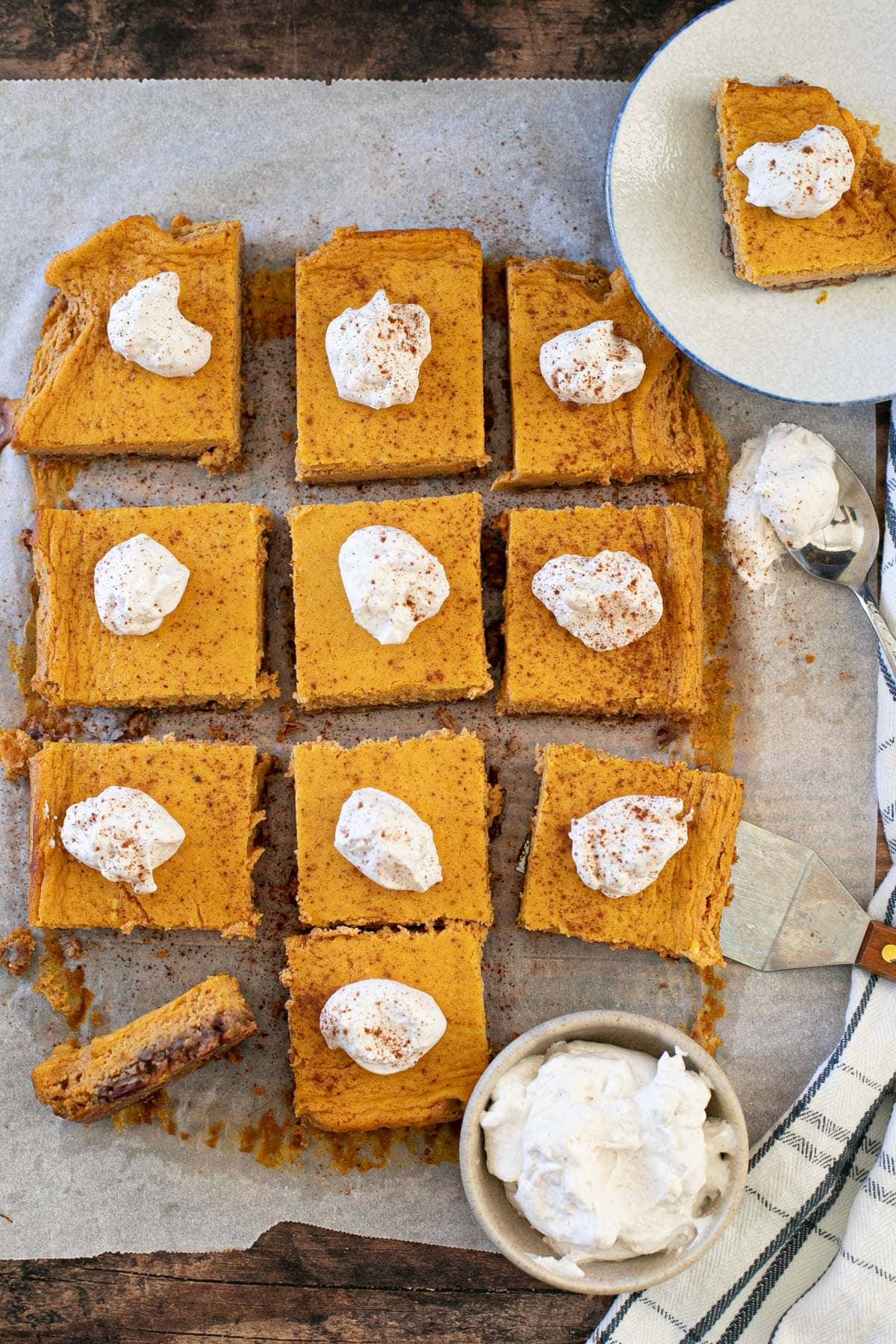 pumpkin recipe cheesecake bars