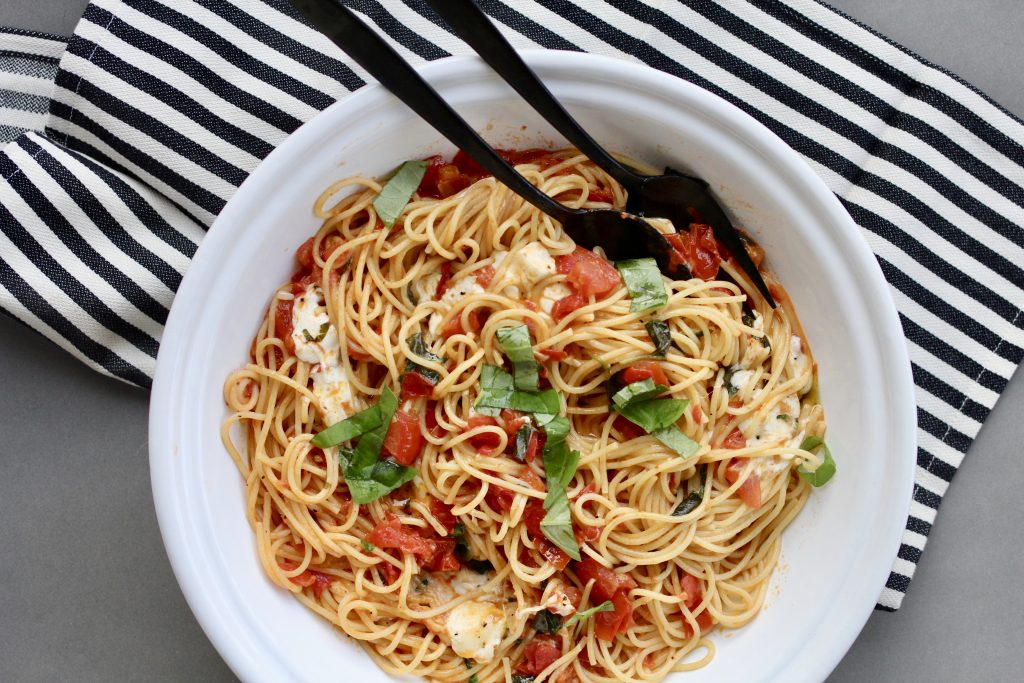 A spaghetti dish for a weeknight meal