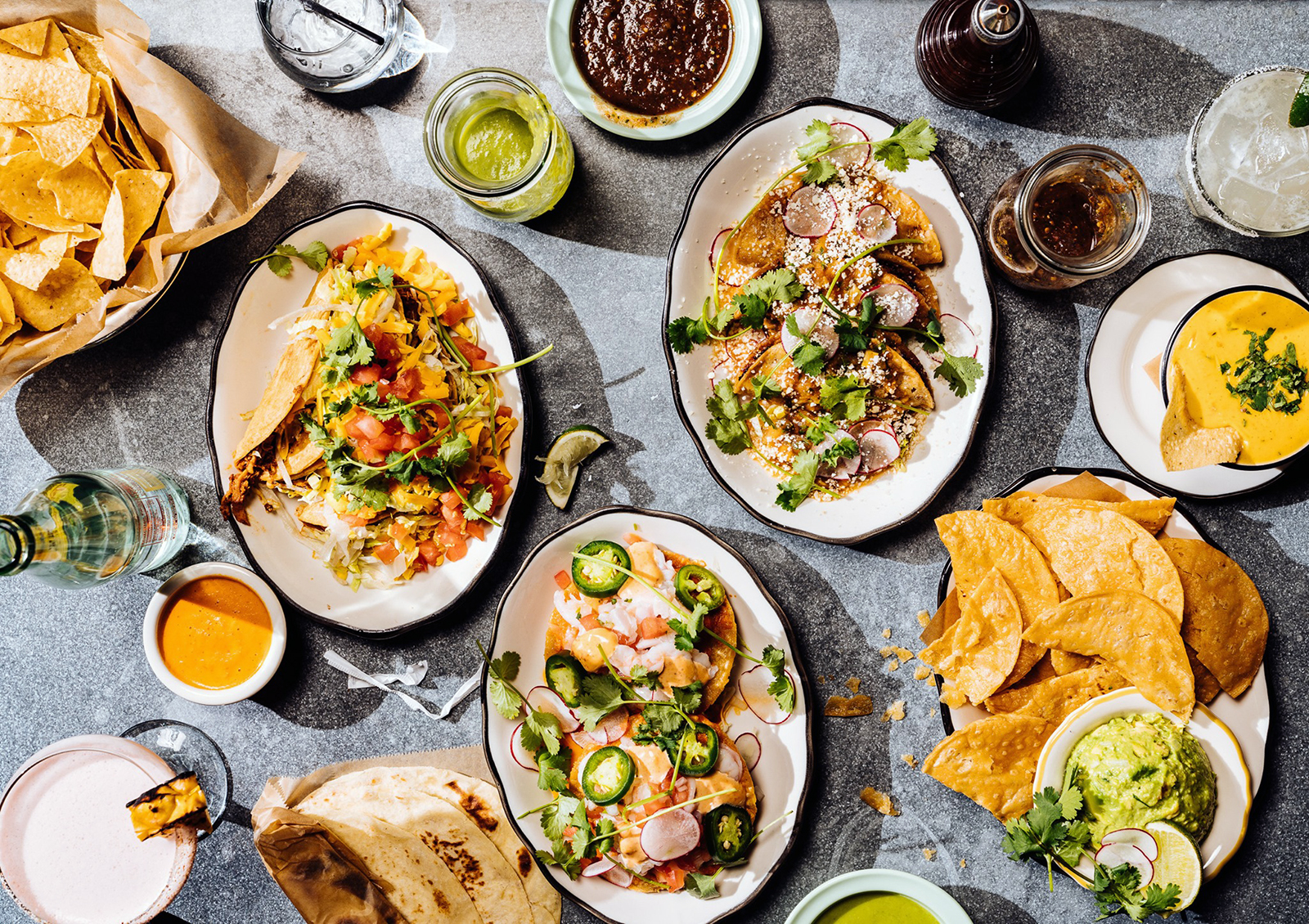 table of mexican food