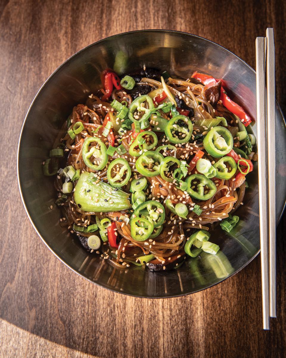 bowl of korean food