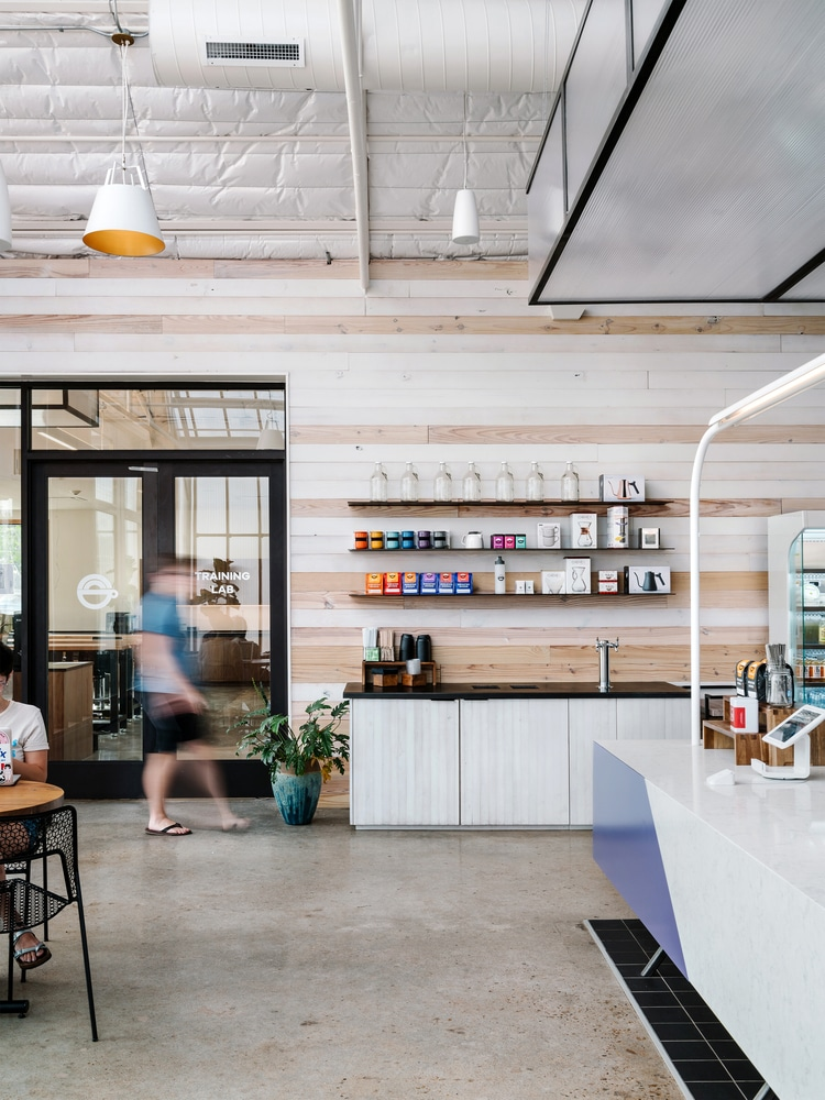 A coffee shop bar in Austin