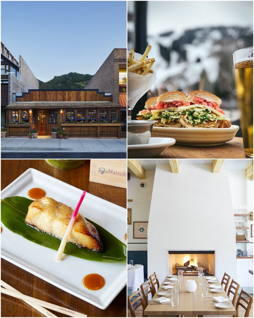 collage of best restaurants in aspen